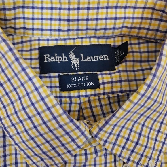 Polo by Ralph Lauren Other - Ralph Lauren Polo Yellow Blue Plaid Button Down